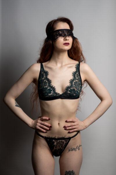 Set Lenjerie Intimă Chantilly Emerald